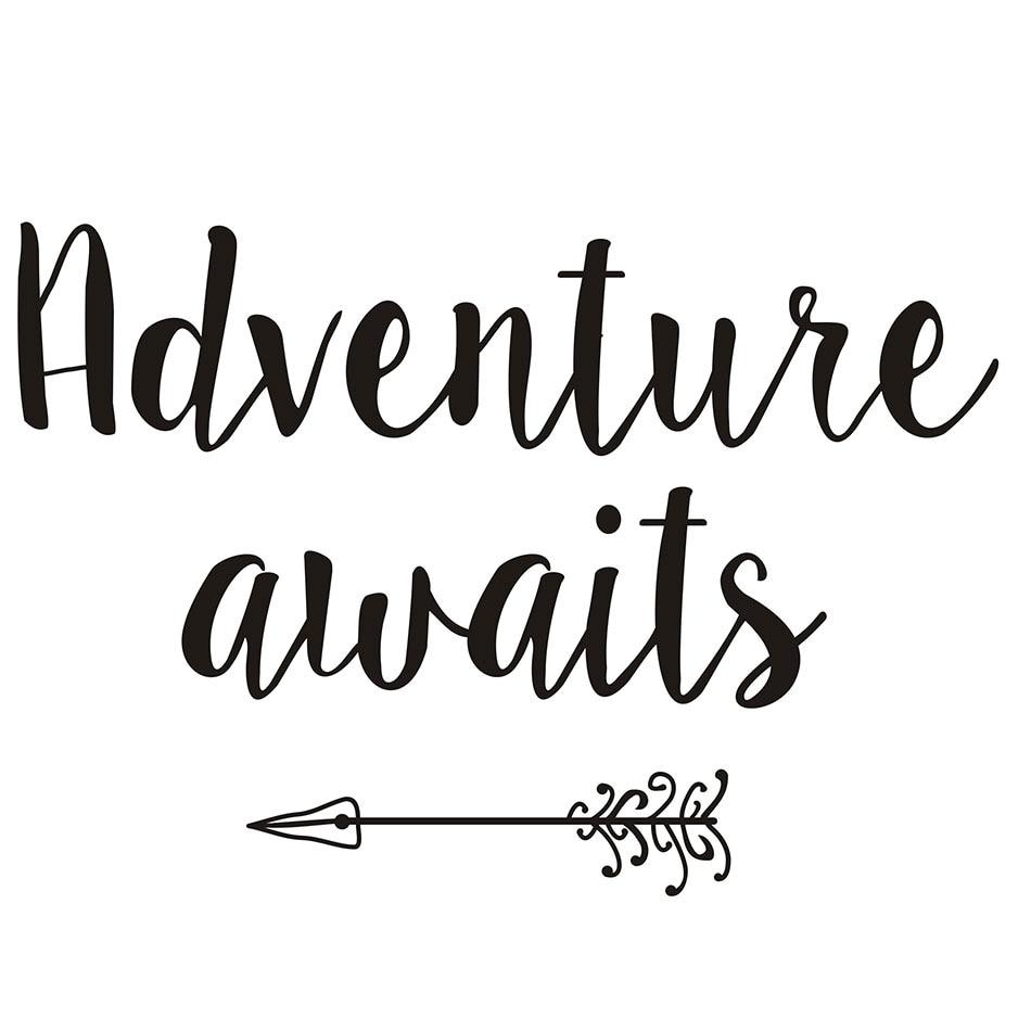 Adventure Awaits Printable Art, Arrow Print, Motivational