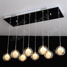 Подвесной светильник Бар лестницы 8 голова простые современные подвесные светильники Прихожая светодио дный лампа LED творческий стеклянный пузырь шар ZL325