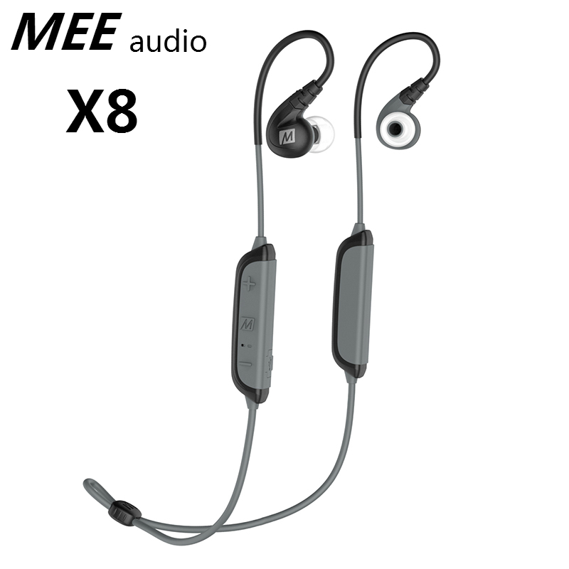 Original MEE audio X8 Dynamic Stereo Bluetooth Headset Earphones Secure-Fit Wireless Sports In-Ear Headphones Earbuds For Phones wireless big headphones high quality bluetooth for cell phones stereo audio foldable earphones tf card music player de112b