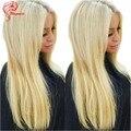 Мода Цвет #60 Прямо Девственные Волосы Светлые Парики Бразильского Виргинские волос Блондинка Полная Парики, Кружева Vip Красоты Волос Фронта Шнурка парики