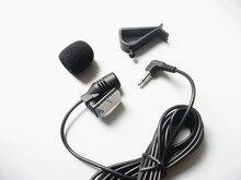 Profissionais 3.5mm Stereo Plug Jack Mono Microfone Mini Microfone Com Fio Externo DVD Player Estéreo Rádio Do Carro Unidade Central do Cabo 3 m