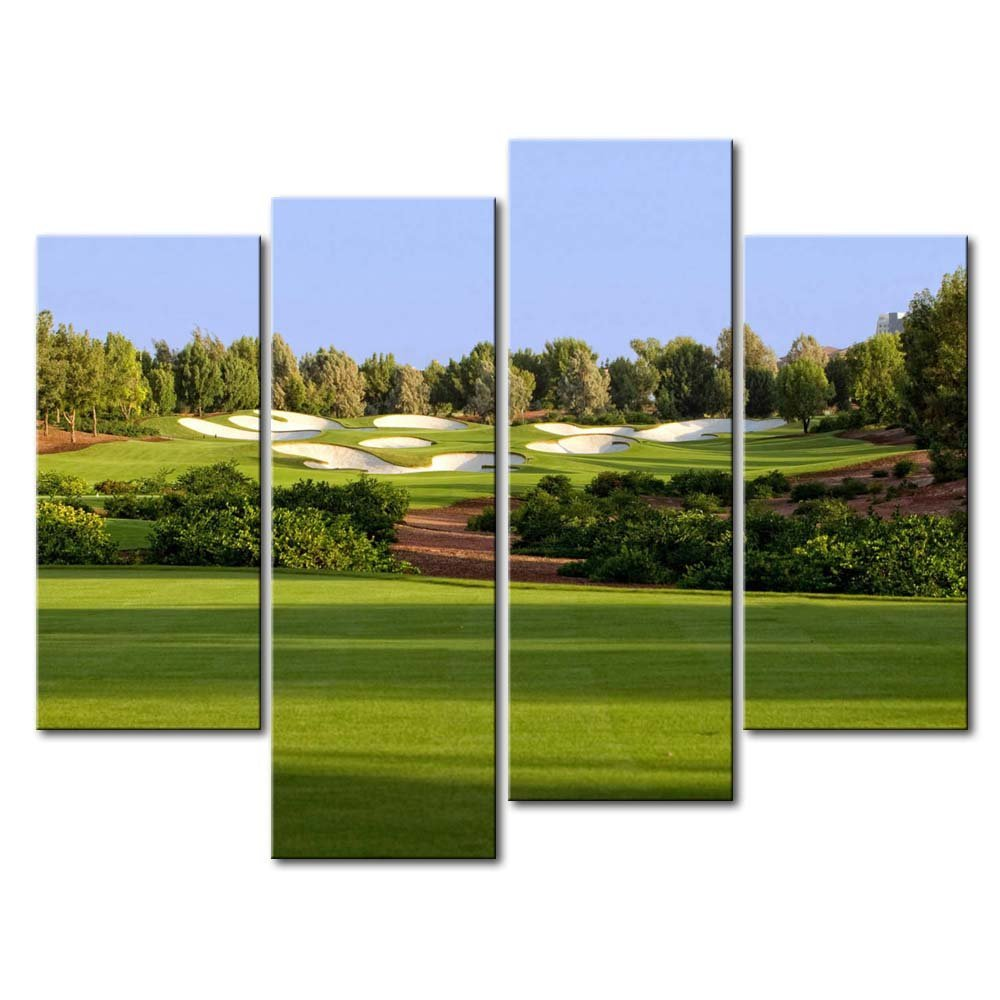 4 HD Panel Wall Art Painting Jumeirah Golf Estates Trees Lawn Prints On  Canvas The Picture Part 32
