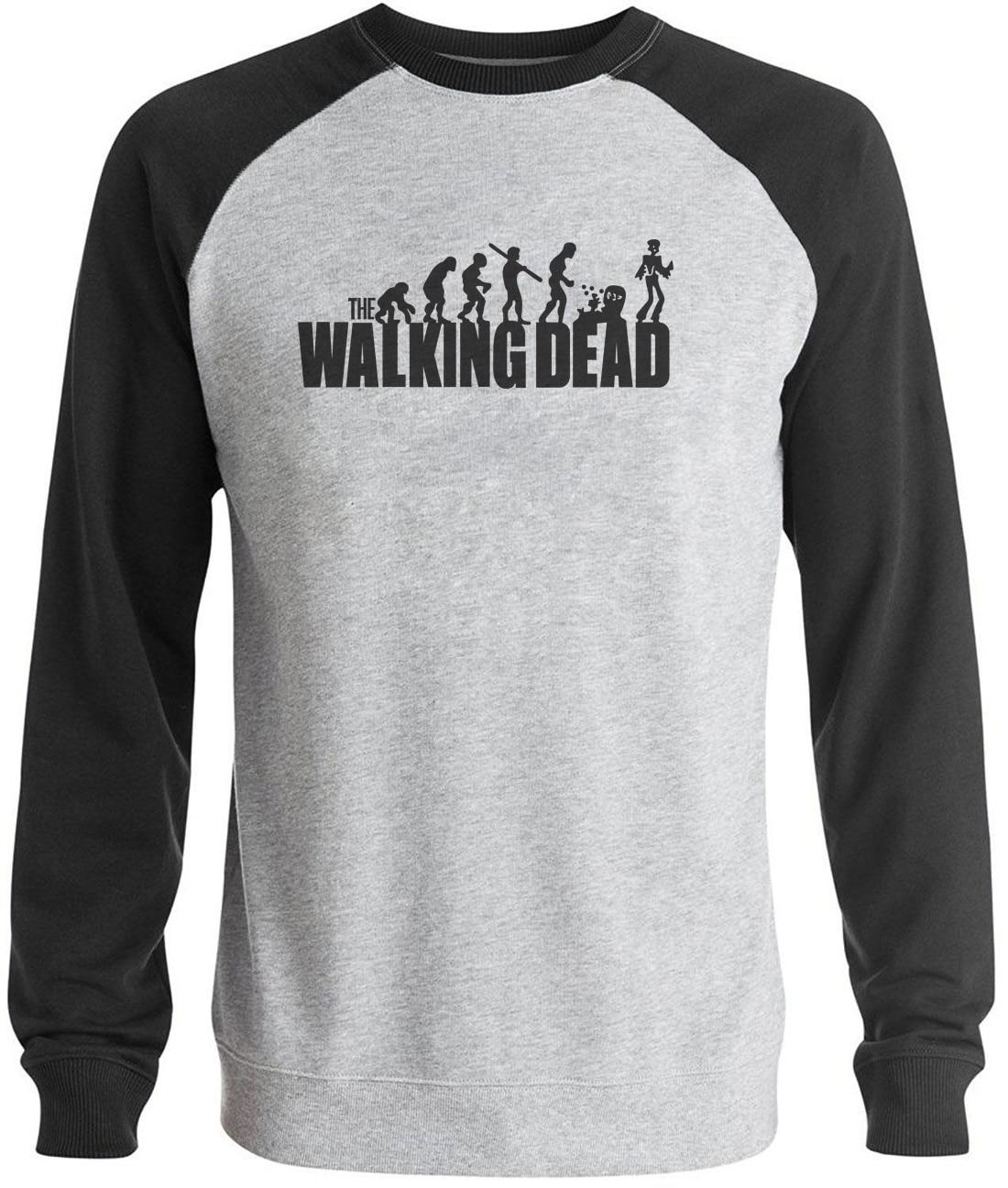 Sweatshirt Casual Raglan Long Sleeve Brand Clothing 2019 Autumn Winter The Walking Dead Men Funny Tracksuit Hip Hop Hooded Male