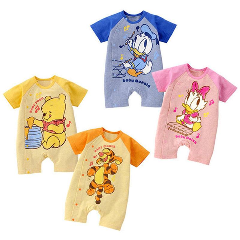 Mickey Minnie Cartoon Baby Romper Short Sleeve Cute Clothes Baby Girl One Pieces Jumpsuits Roupas Infantil Baby Clothing cute minnie baby girl romper long sleeve baby clothes roupa infantil macacao ropa bebe jumpsuit baby rompers infant clothing