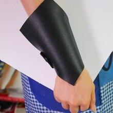 Fashion Designer Luxury Punk Wrap Leather Bracelets & Bangles  Elegant Black Wide Bracelet Jewelry Christmas Gift