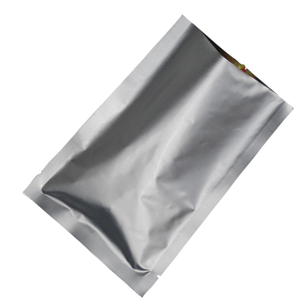 Pure Silver 30 40cm 150Pcs Lot Aluminum Foil Nut Snack Tea Vacuum Storage Bag Heat Seal