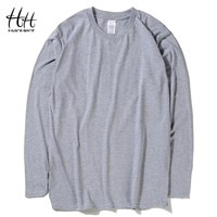 Fashion Classic 100 Cotton T Shirts Men Solid Color Long Sleeve O Neck Tshirts 2015 New