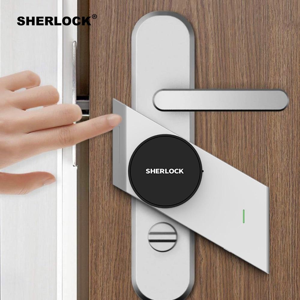 Sherlock S2 Smart Maison Serrure de porte Sans Clé Serrure Empreinte Digitale + Mot de Passe Travail Serrure Électronique Sans Fil App Téléphone Bluetooth Contrôle