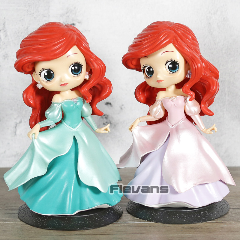 Q Posket Dolls Ariel Princess Dress Style PVC Q Version Figure Collectible Figurine ToyQ Posket Dolls Ariel Princess Dress Style PVC Q Version Figure Collectible Figurine Toy