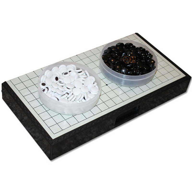 BSTFAMLY Magnetic Go Chess 19 Road 361 Pcs/Set Chinese Old Game of Go Weiqi  International Checkers Folding Table Toy Gifts LB04
