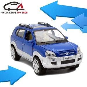 Image 5 - חדש לגמרי יונדאי טוסון הישן בקנה מידה Diecast דגם מכוניות, מתכת צעצועי מתנה לילדים עם פתיח דלת/למשוך בחזרה פונקציה