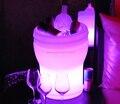 Cor mutável Illuseo Lumineux LEVOU Balde de Gelo Recarregável LEVOU refrigerador de champanhe luminosa À Prova D' Água controle remoto + Adaptador
