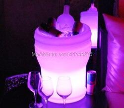 Couleur modifiable Illuseo Lumineux LED seau à glace Rechargeable LED Lumineux champagne refroidisseur étanche télécommande + adaptateur