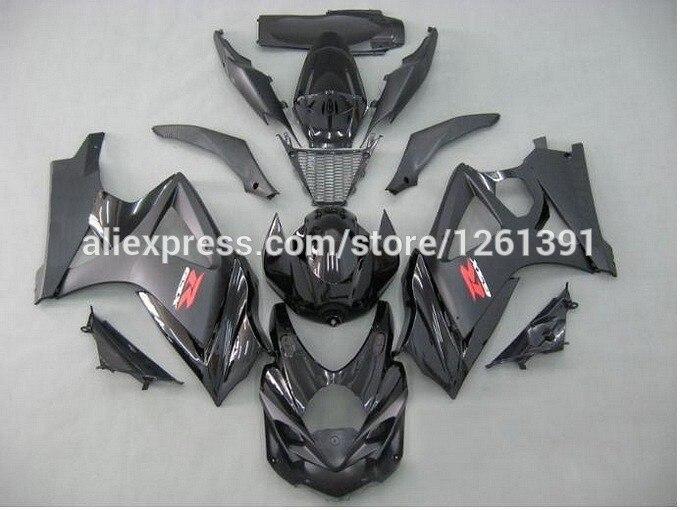 Инъекции обтекатель для SUZUKI GSX-R1000 K7 07 08 все черный GSX R1000 GSXR 1000 K7 07-08 GSXR1000 2007 2008 Обтекатели комплект