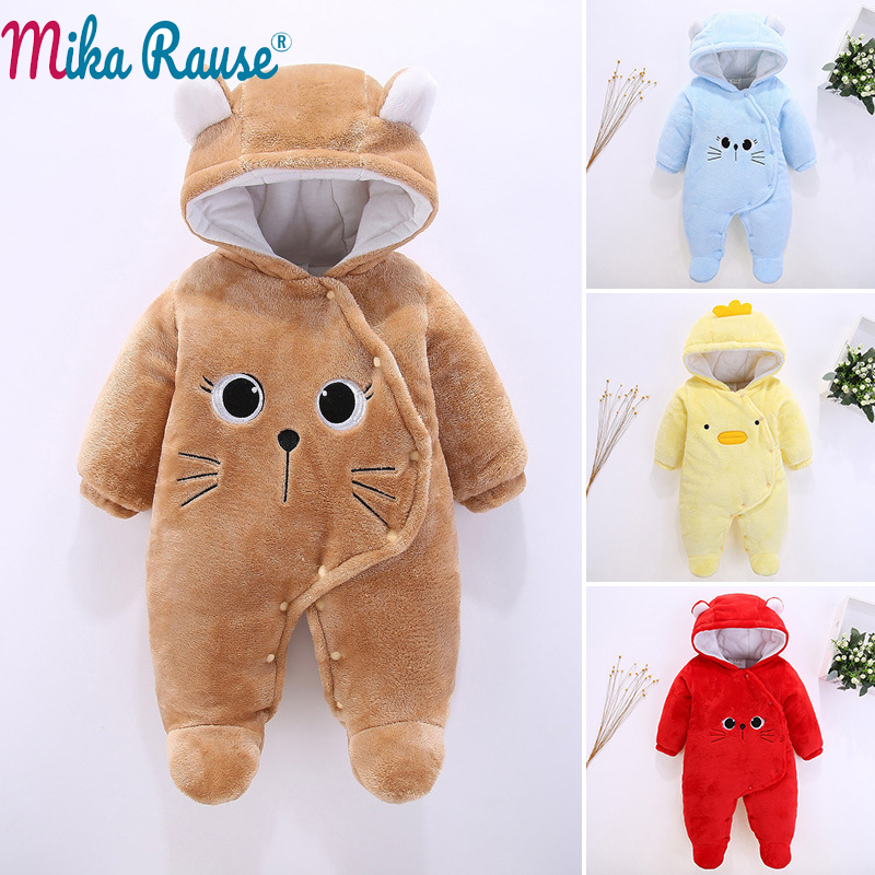 f28b6bdccc22 100% cotton Baby Rompers cartoon Winter Baby Boy girls Clothes ...