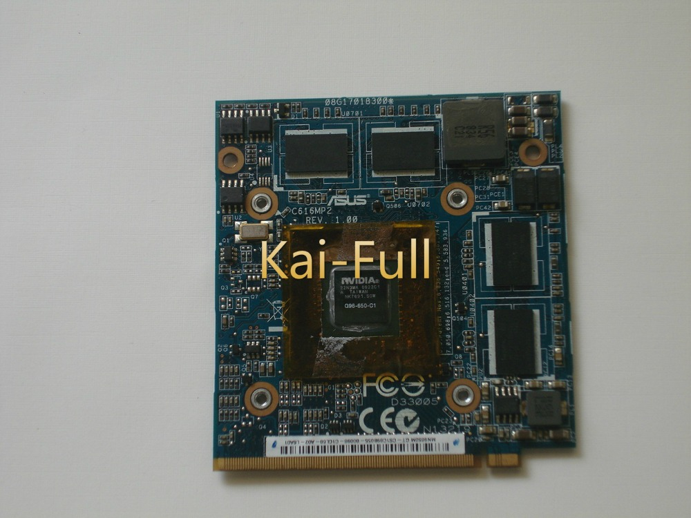 9650M GT 9650MGT G96-650-C1 REV 1.00 <font><b>DDR2</b></font> 1GB VGA video card for ASUS C90P C90S S97V Z97V For ACER 5920G 6920G Laptop image