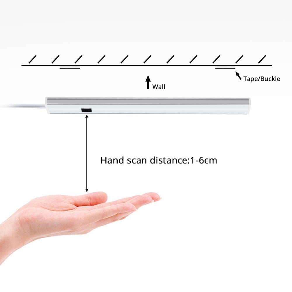 手振り制御 led バーライト 12 v キッチンランプクローゼット電球と 220 v 電源手スキャンモーションセンサー led ランプチューブ
