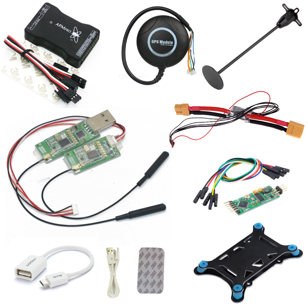 APM PRO Flight Control Combo 8M GPS 100MW Transmission Mini Osd GPS Bracket for RC Quadcopter /Rc Drone drone upgraded apm2 6 mini apm pro flight controller neo 7n 7n gps power module