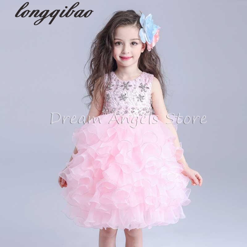 цена Top Quality Girl Dresses Princess Children Clothing Anna Elsa Cosplay Costume Kid's Party Dress Baby Girls Clothes
