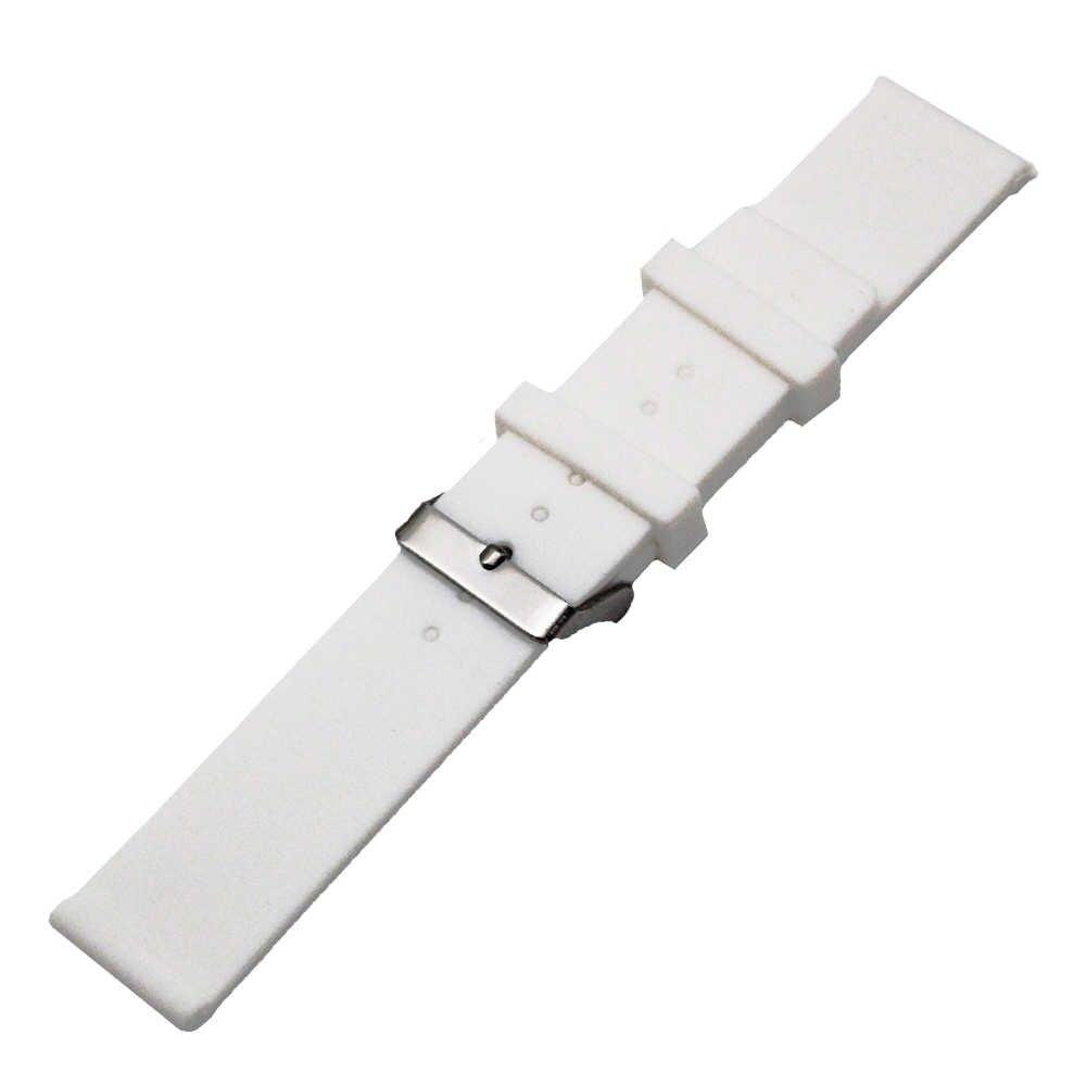 """20 מ""""מ 22 מ""""מ 24 מ""""מ סיליקון גומי צפו בנד עבור גברים רצועת השעון Rado נשים רצועת פרק כף היד לולאת חגורה צמיד שחור לבן + כלי + פין"""