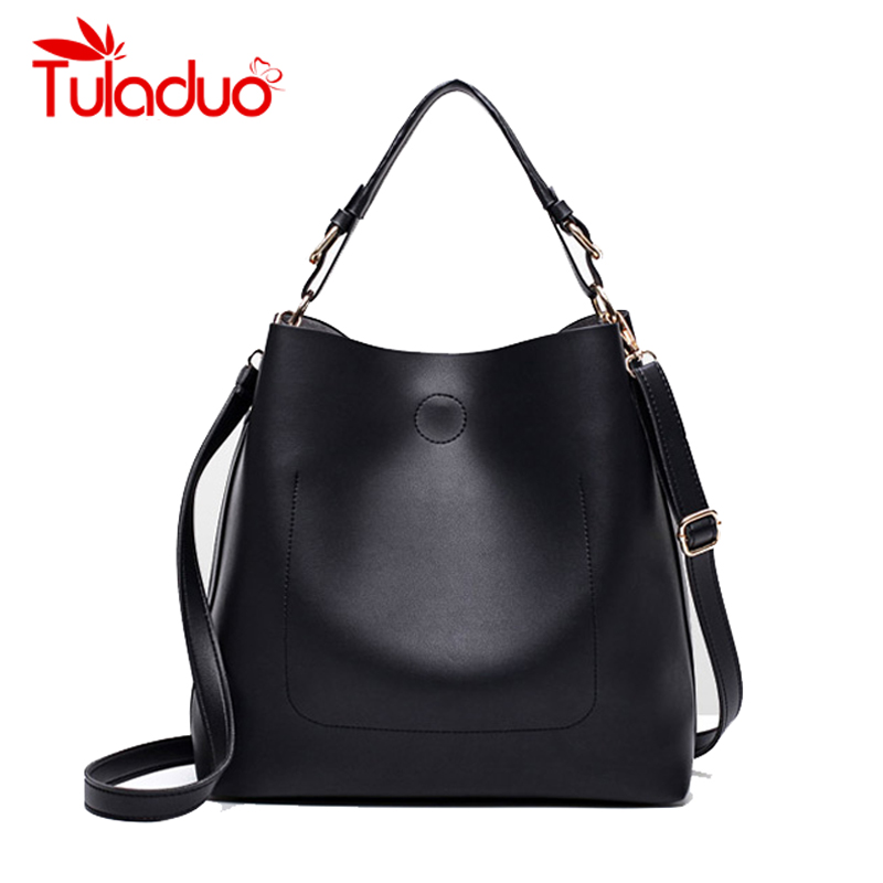 2017 Women Shoulder Bag Ladies Bucket Handbag PU Leather Brand Designer Luxury Female Large Capacity Handbag Casual Tote bags