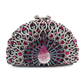 purple  luxury crystal clutch bags bling rhinestone evening bags purple women evening clutch bags party bagg (88182A-P)