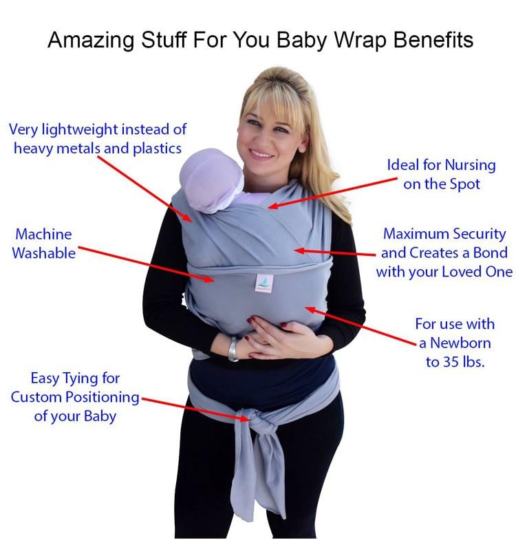 2016 Best Organic Ergonomic Baby Carrier Adjustable Newborn Sling
