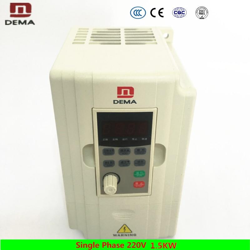 Дема 220 В однофазный 1.5кВт VFD Преобразователь частоты 50 Гц 60 Гц ЧПУ Солнечный водяной насос мотор переменный Частотный привод инвертор