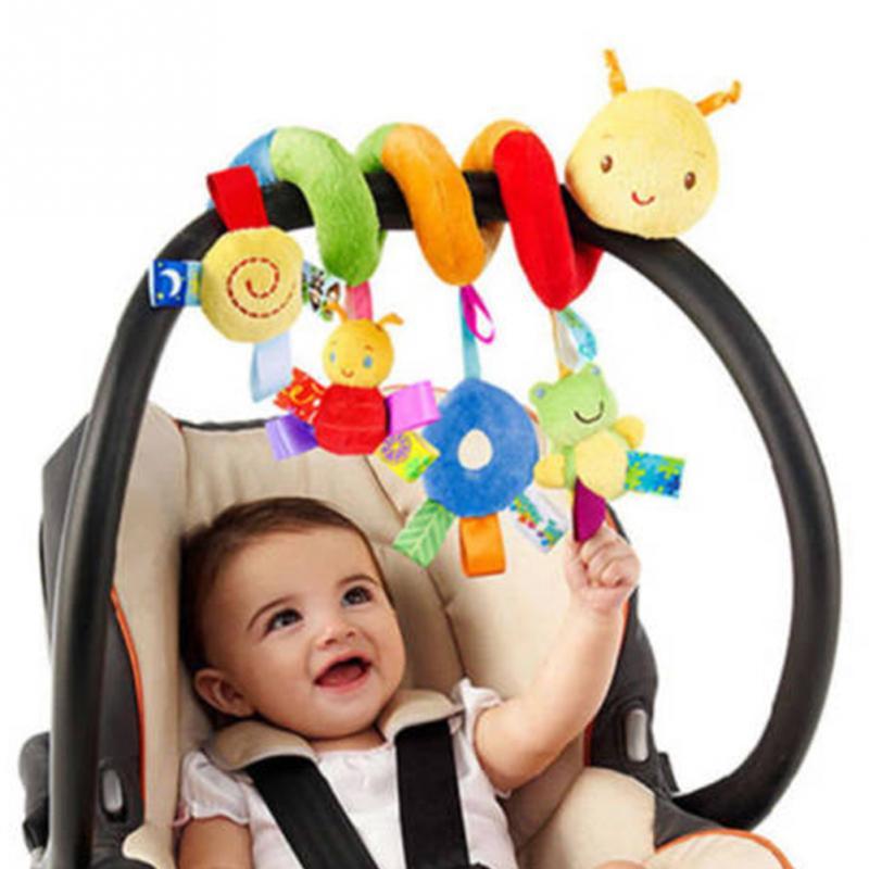 22PCS Baby Plush Animal Rattle Mobile Infant Stroller Bed Crib Spiral Hanging Toys Music Gift for