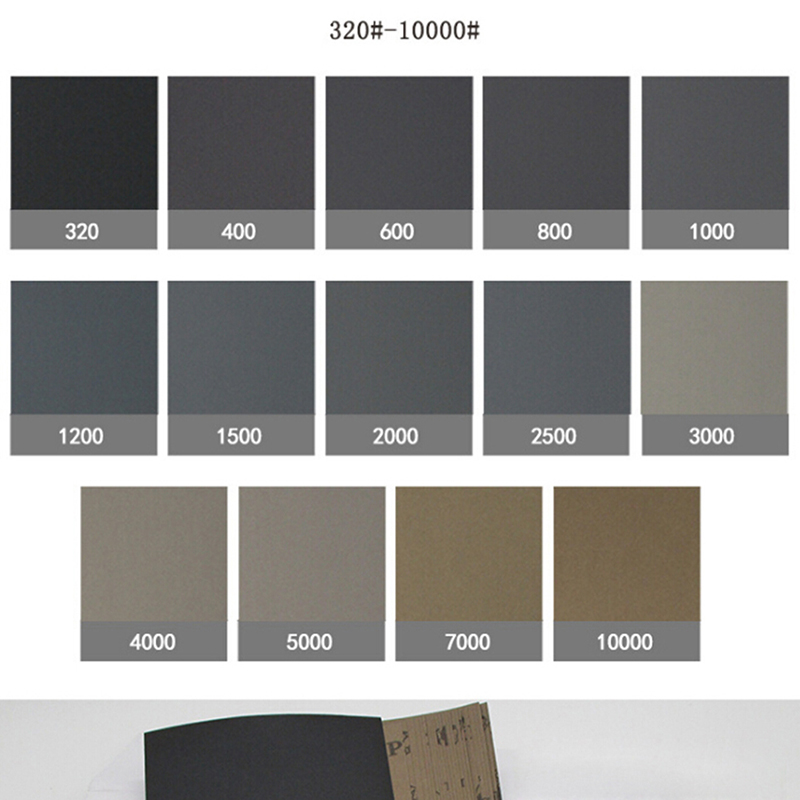 10Pcs/set Wet Dry Polishing Sanding Abrasive Sandpaper Paper Sheets Grit 220 7000 230*93mm Abrasive Tools    - AliExpress
