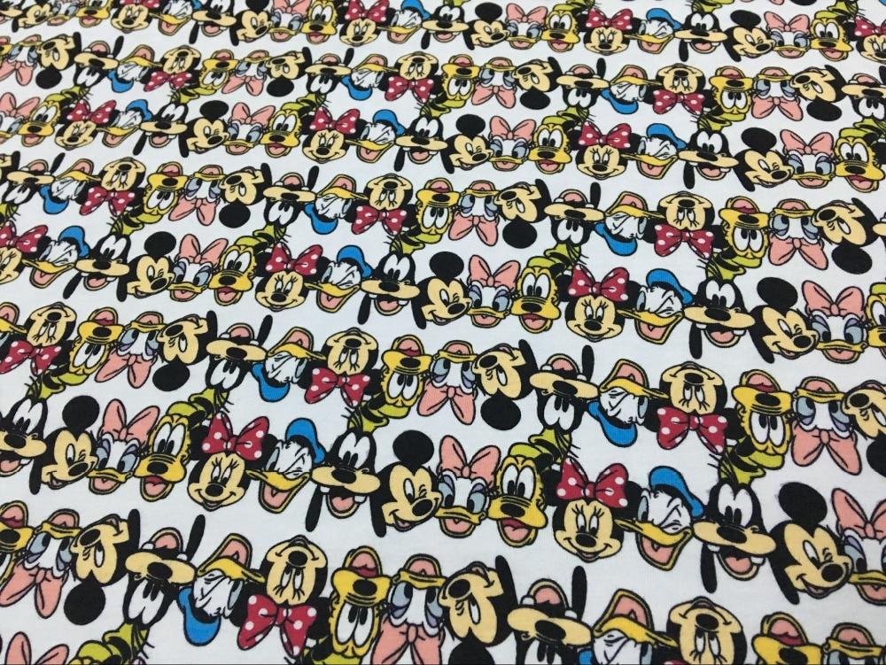 170x100cm cotton lycra fabrics patchwork prints cartoon for Children s jersey fabric