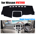 Car dashboard cover mat for Nissan NV200 all the years Right hand drive dashmat pad dash covers auto dashboard accessories