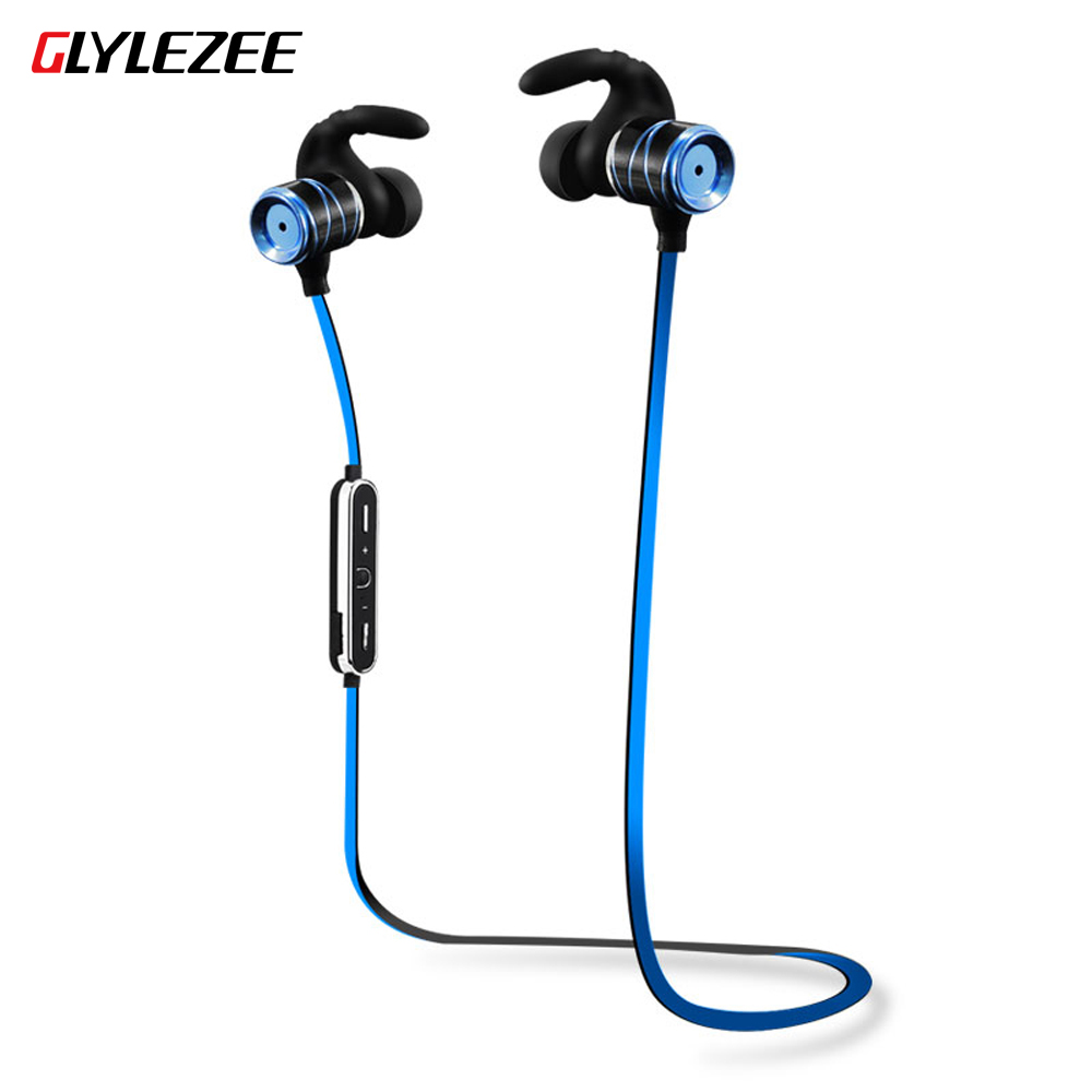 Glylezee S3 Wireless Earphone Bluetooth Headset with Microphone Sweatproof Design for Sport Running for iPhone xiaomi Huawei Hot dacom carkit wireless bluetooth headset earphone with mic car charger for apple iphone 7 plus airpods android xiaomi samsung lg