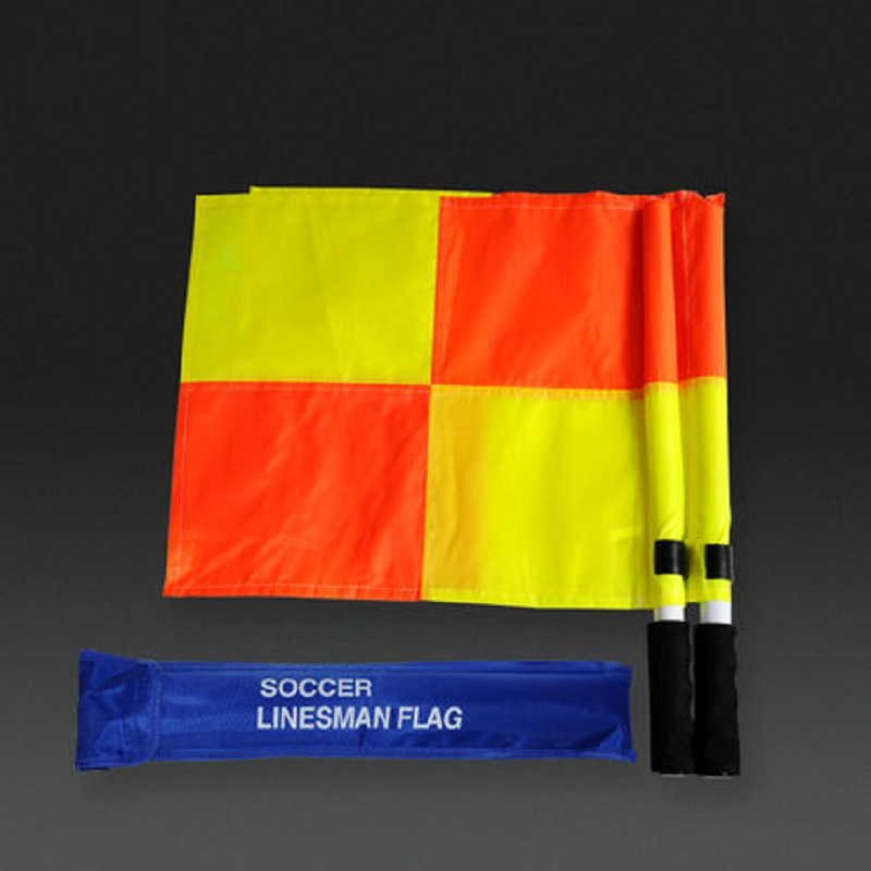 Football Game Hand Flag Practical Sports Training Referee Side Signal Flags Referee Equipment Comfortable Bright Eye-catching