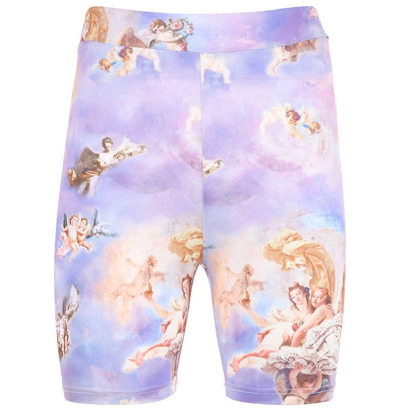 HEYounGIRL повседневные шорты с высокой талией, обтягивающие женские шорты для фитнеса, женские шорты из спандекса, горячая Распродажа шорт, летние корейские