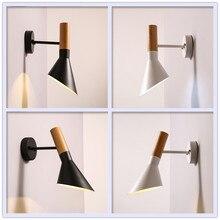 Scandinavian Modern Minimalist Industrial LOFT Style Wrought Iron Creative E27 LED Wall Lamp Bedroom Bedside Aisle Wall Light