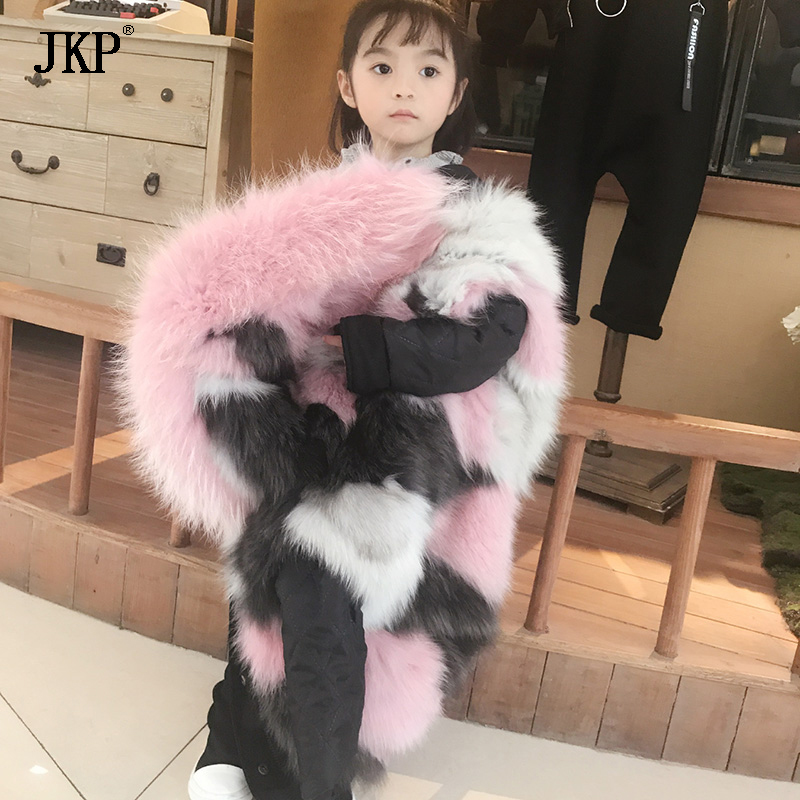 ArmyGreen winter children Fox fur lining coat colourful warm thick Baby boys girls parkas Raccoon fur collar kids jacket 5 colors 2017 new long fur coat parka winter jacket women corduroy big real raccoon fur collar warm natural fox fur liner