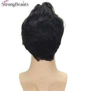Image 5 - חזק יופי סינטטי קצר קוספליי פאות שחור גוף גל גברים של פאה