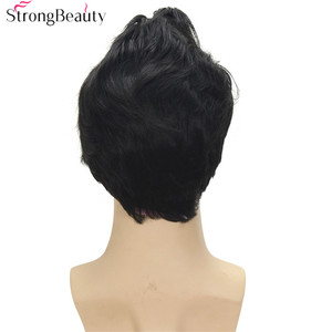 Image 5 - Strong Beauty Synthetic Short Cosplay Wigs Black Body Wave Mens Wig