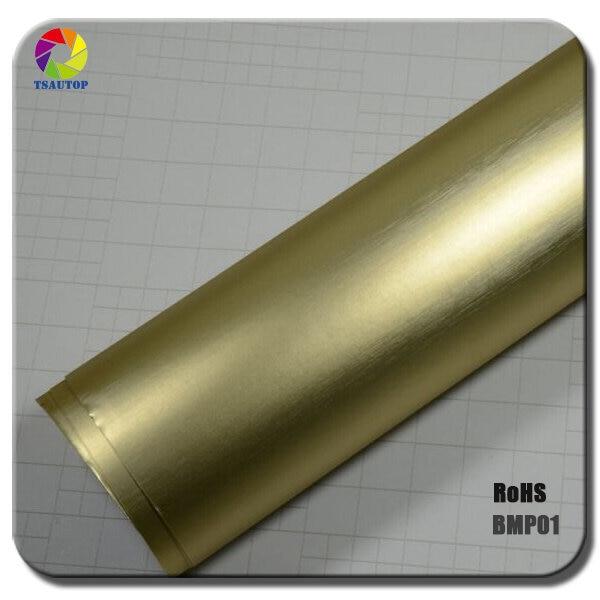 1,52x20 м воздушные пузыри оранжевый цвет матовый жемчуг углеродного волокна виниловая обертка - Название цвета: bronze