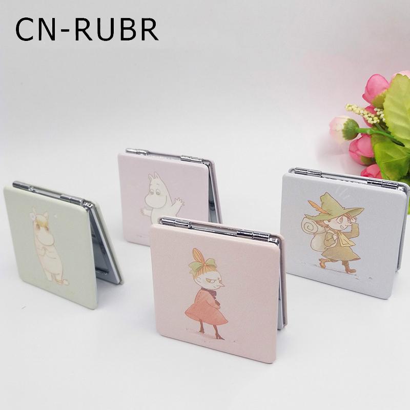 cnrubr espejos de alta calidad de dibujos animados de moda floral porttil plegable de