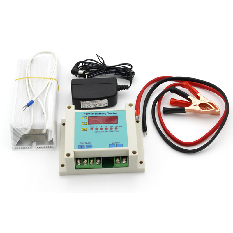FDY10-S Universal Battery Tester capacity detector Discharge Checker battery capacity tester 1V~20V 0.4-10A 110w constant current electronic load tester 10a 1v 30v battery discharge capacity test equipment