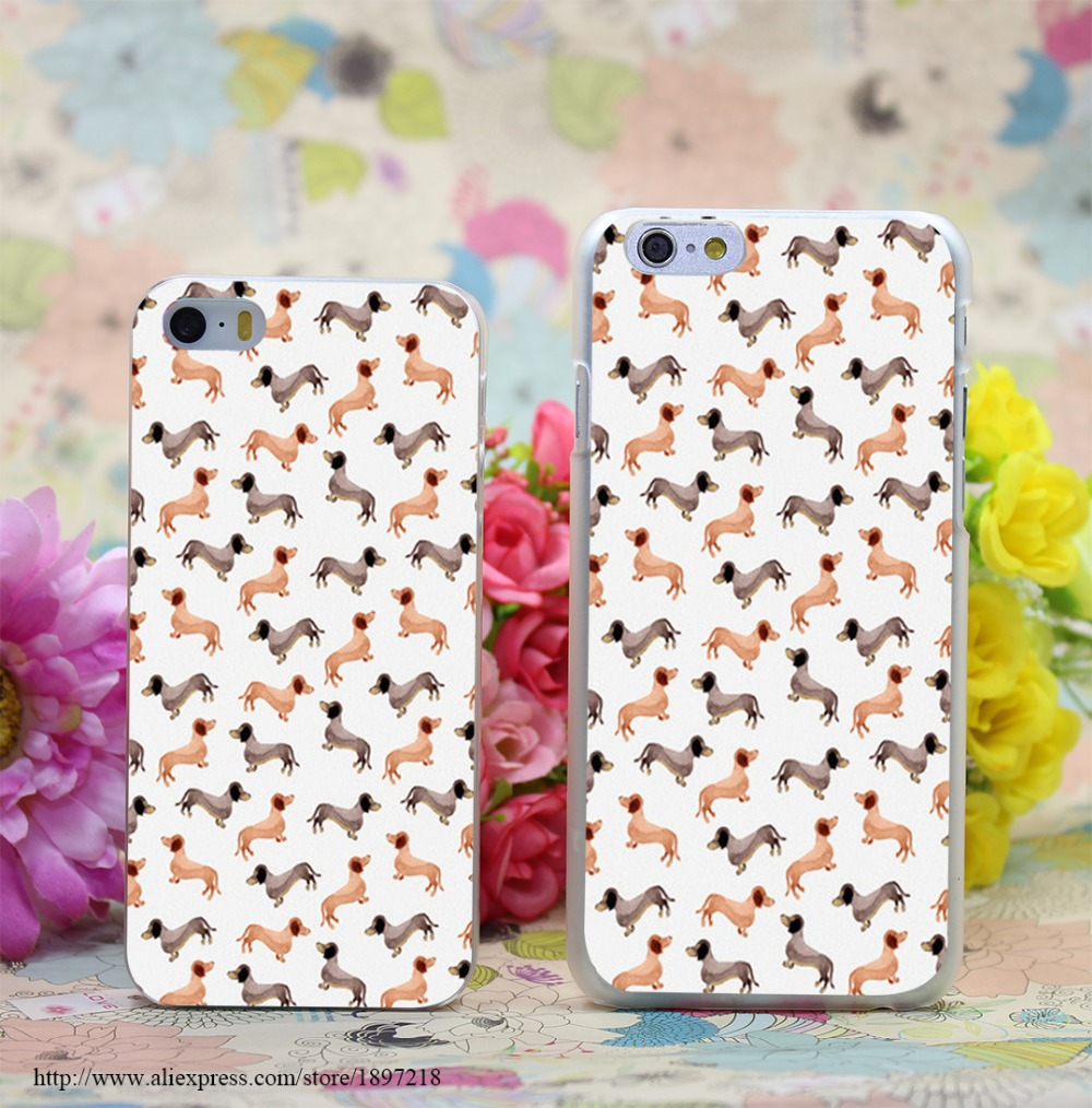 864W Darling Dachshunds Transparent Hard Case Cover for iphone 7 7 Plus 6 6s plus 4 4s 5 5s SE 5c