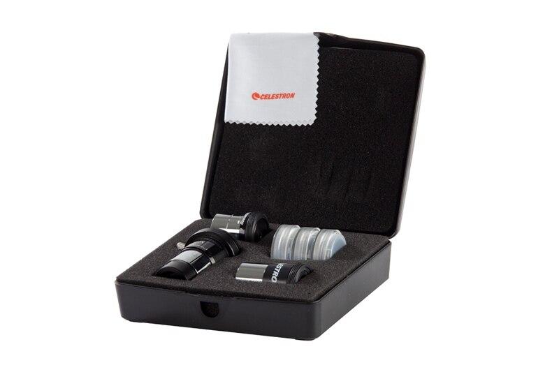 Prix pour Celestron ASTROMASTER ACCESSOIRE KIT comprend 2X lentille barlow 6mm Ploss 15mm Kellner Oculaire #25 # 80A Filtre lune Filtre