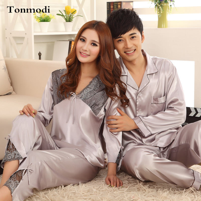 High Quality Thick Silk Pajamas For Men And Women Sleep Cardigan Women's Sleep & Lounge>>Pajama Sets  XXXL