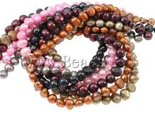 Free shipping!!!Potato Cultured Freshwater Pearl Beads,Jewelry Accessories, mixed colors, 8-11mm, Hole:Approx 0.8mm