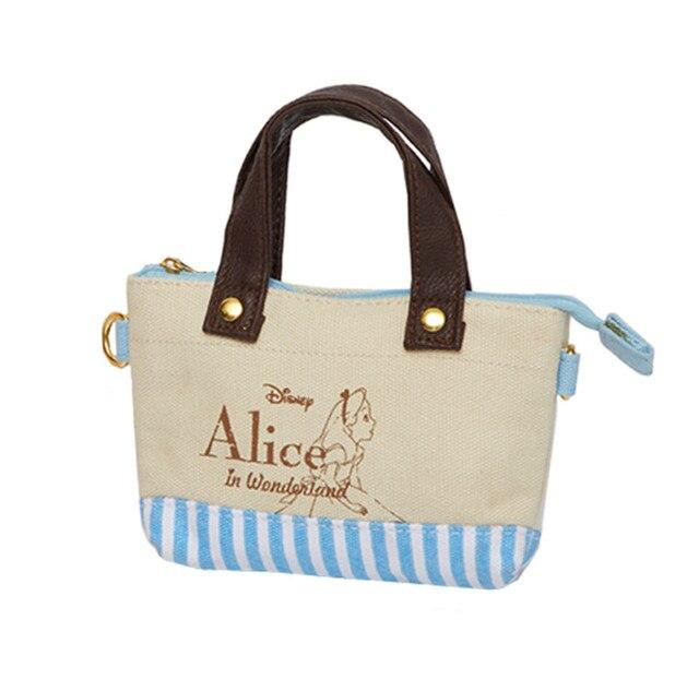 Cute Cartoon Alice in Wonderland Small Tote Bag Women Mini Handbag Coin  Purse Wallets Mobile Phone Bag 8ecb5aa7ec