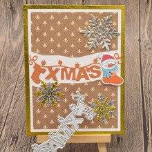 XMas Letter Metal Cutting Dies Words for Scrapbooking Album Christmas Card Making Paper Embossing Die Cuts