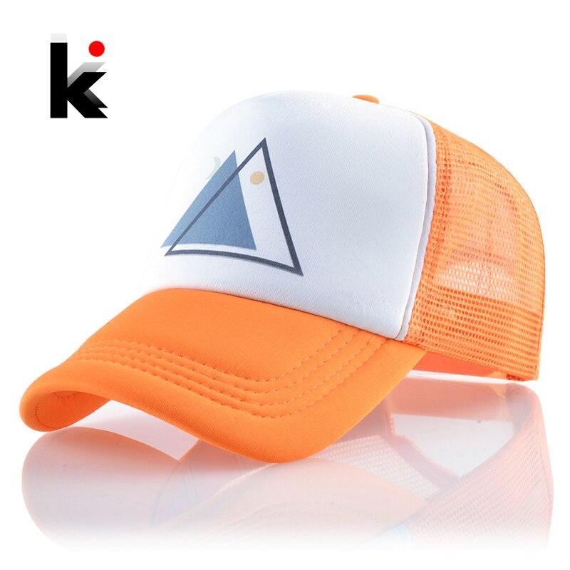 Baseball-Cap Trucker-Caps Mesh Bones Streetwear Visor Snapback Hip-Hop-Hats Sport Unisex