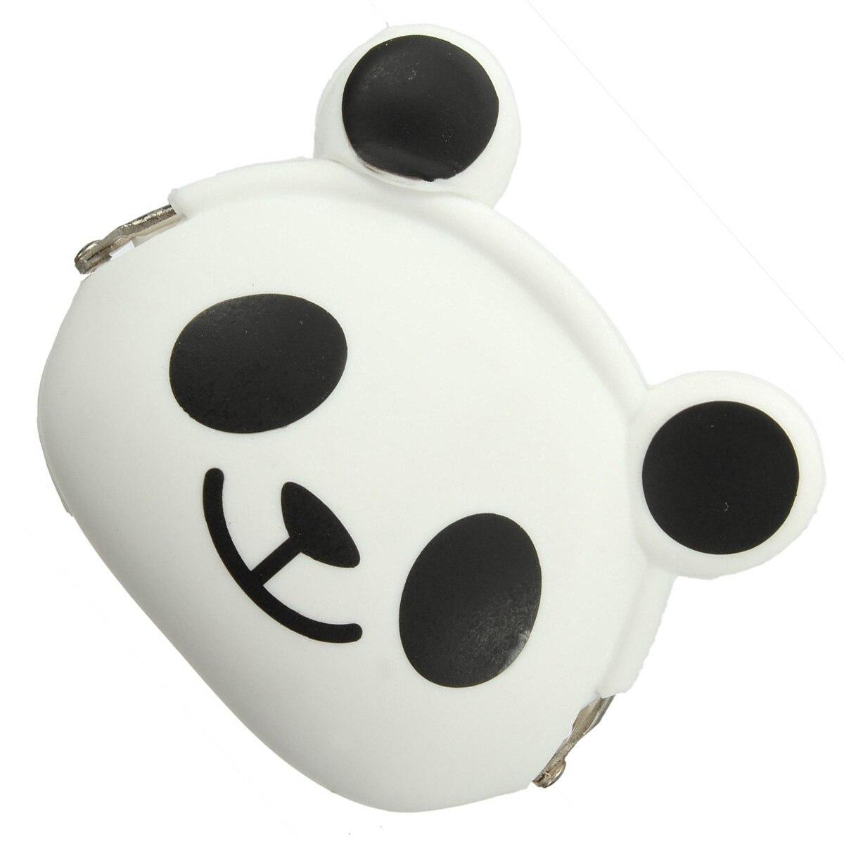 5) Women Girls Wallet Kawaii Cute Cartoon Animal Silicone Jelly Coin Bag Purse Kids Gift Panda